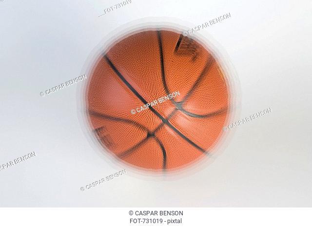 A bouncing basketball