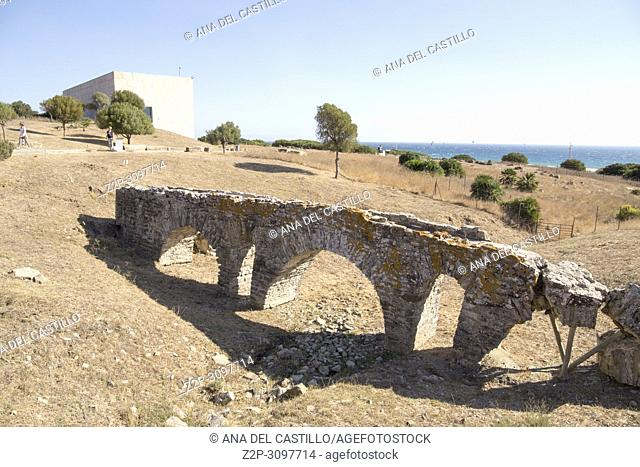 Ruins and museum of a Roman city, Baelo Claudia, Cadiz, Spain on October 10, 2017