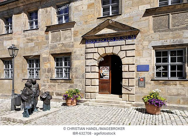 Entrance to the historical museum in Bayreuth, Bavaria, Germany, Europe