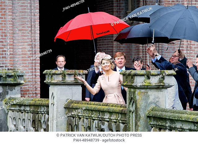 King Willem-Alexander and Queen Maxima of The Netherlands attend a Dutch-German business meeting at Museum Schloss Moyland in Kleve, Germany, 27 May 2014