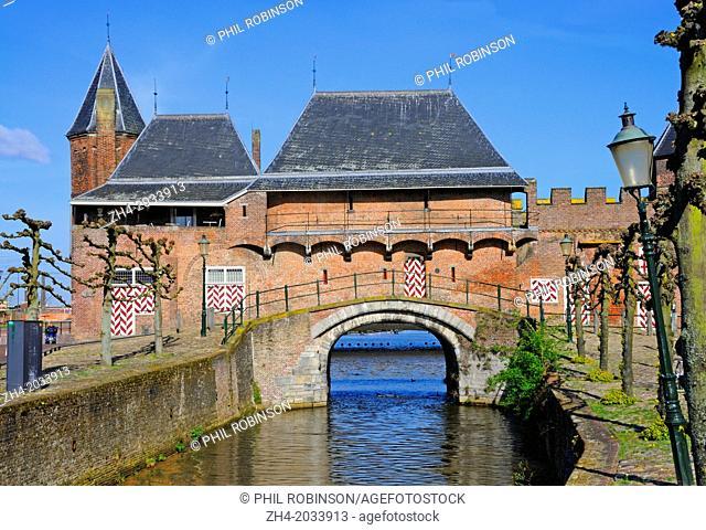 Amersfoort, Netherlands. Koppelpoort (1400 - gate spanning the river. Restored 1886)
