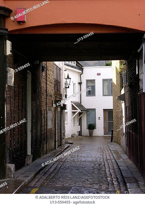 Street Alley Portobello Road Notting Hill Kengsington London England United Kingdom