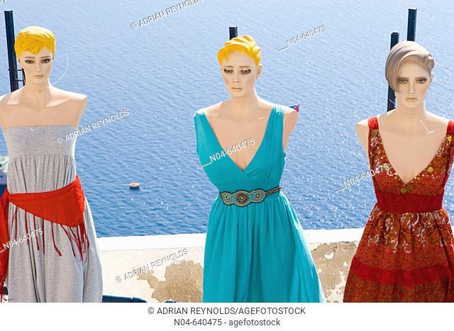 Mannequins. Santorini. Greece