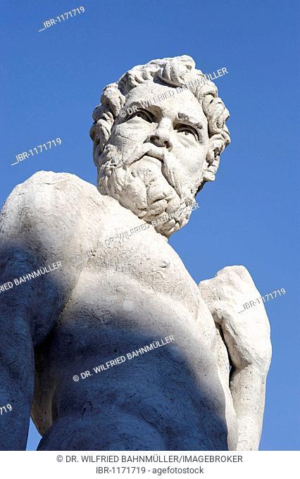 Heracles by Angelo de' Putti, Piazza Liberta, Udine, Friuli-Venezia Giulia, Italy, Europe