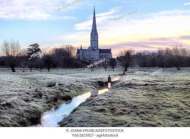 Salisbury Cathedral, Salisbury, Wiltshire, England, UK