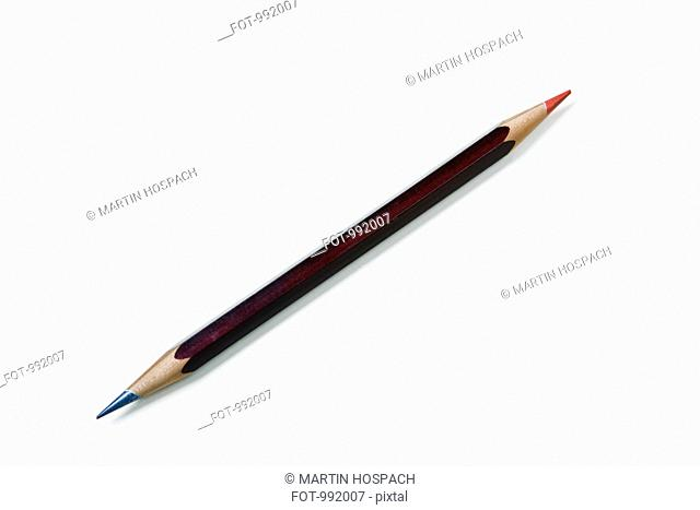 A double ended colored pencil