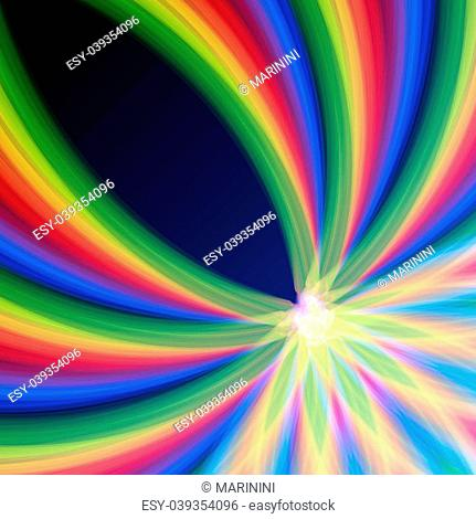 abstract background multicolored rainbow lines gradient curves