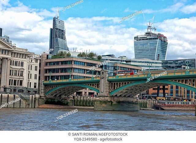 London Bridge During The Rush Hour, London, England
