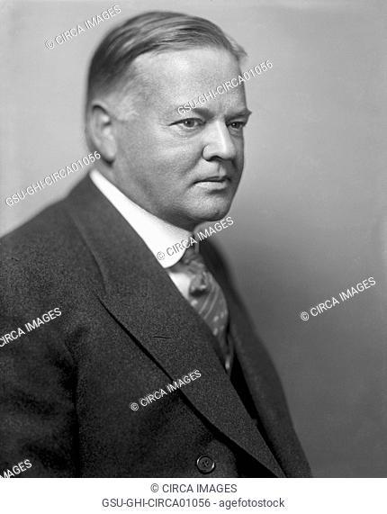 U.S. President Herbert Hoover, Portrait, circa 1920's