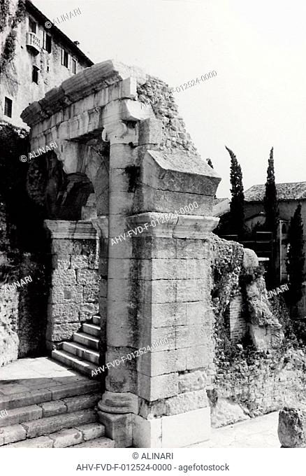 The Archaeological Area of the Roman Theatre, Verona, shot 20/09/1966 by Zenker Otto