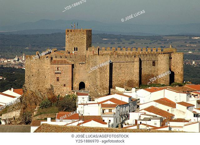 Castle and town, Segura de Leon, Badajoz-province, Spain