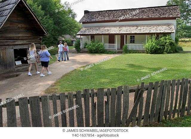 Gregg-Cable house in the Cable Mill area of Cades Cove in the Great Smoky Mountains National Park, Tennessee