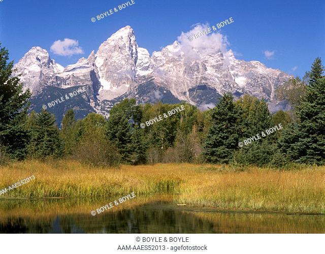 Grand Teton, Teton Range, Schwabacher's Landing, WY, Wyoming
