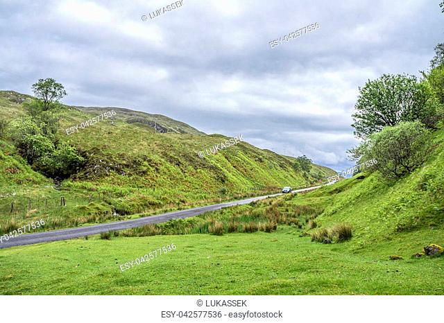 The mountain pass between Ardchattan and Barcaldine in Argyll, Scotland - United Kingdom