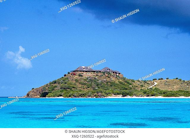 The home of Sir Richard Branson - Necker Island in the Caribbean in the West Indies