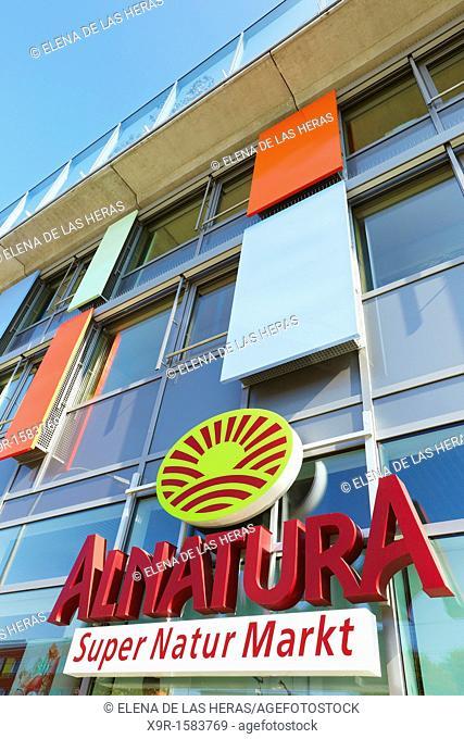 Alnatura supermarket at the Öko-Institute for Applied Ecology building in Bauvan district  Freiburg im Breisgau  Baden Wuerttemberg  Germany