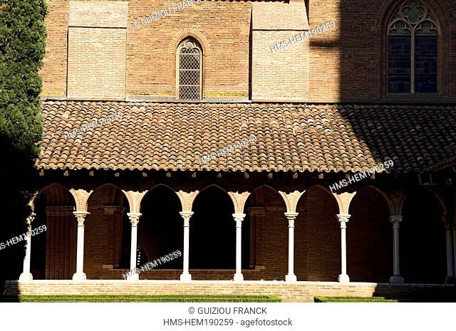 France, Haute Garonne, Toulouse, Couvent des Jacobins Jacobin convent, cloister 's gallery