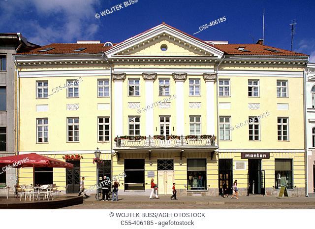 Merchant houses. Town Hall. Raekoja Plats square. Tartu. Estonia