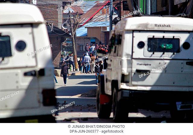 kashmiri Muslim protesters, baramulla, Kashmir, India, Asia