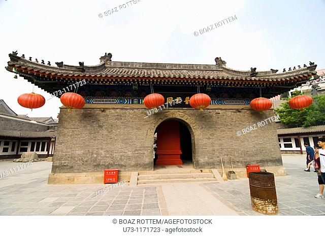 Beautiful classical Chinese architecture as seen in an old Buddhist temple in Tianjin, China