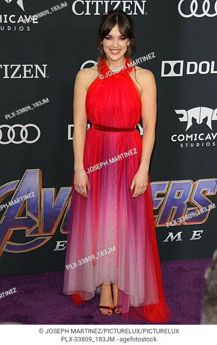 "Elizabeth Henstridge at The World Premiere of Marvel Studios' """"Avengers: Endgame"""" held at the Los Angeles Convention Center, Los Angeles, CA, April 22, 2019"