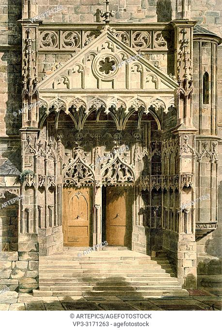 Werner Carl Friedrich Heinrich - Hauptportal Der St Michaelis-Kirche in Jena