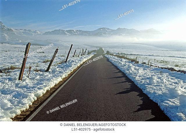Road. Babia. León province. Spain