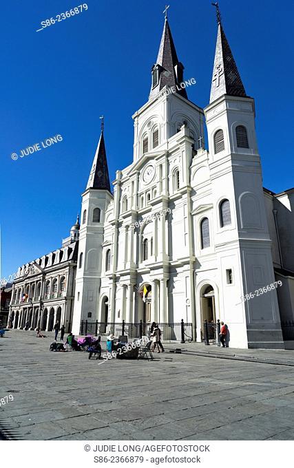 St. Louis Catholic Cathedral, Jackson Square, French Quarter, New Orleans, LA
