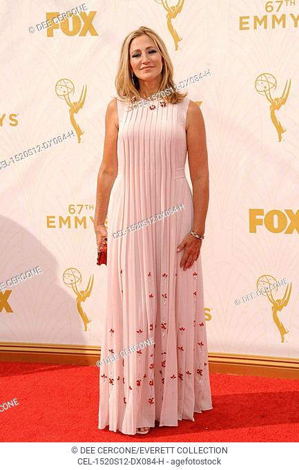 Edie Falco at arrivals for 67th Primetime Emmy Awards 2015 - Arrivals 2, The Microsoft Theater (formerly Nokia Theatre L.A