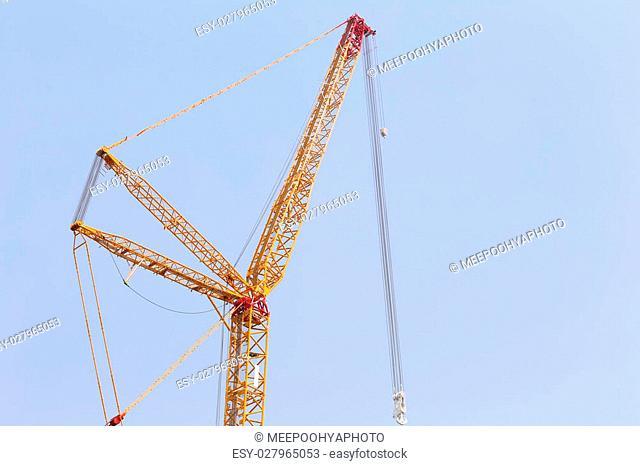 big crane on blue sky background in fine Weather