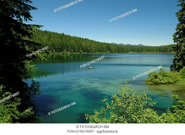 Willamette National Forest, OR, Oregon, Cascade Range, West Cascades Scenic Byway, Clear Lake