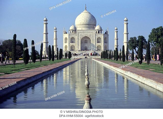 Taj mahal in agra at uttar pradesh India Asia