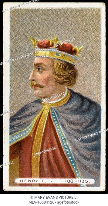 KING HENRY I (1068 - 1135) King of England (1100-35)