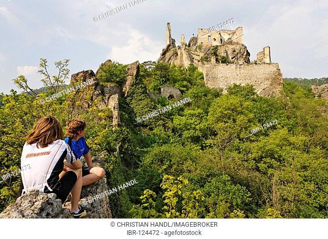 Castle ruin where Richard Löwenherz was imprissioned, Dürnstein, Lower Austria, Austria