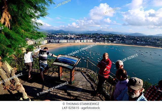 View from castillo towards San Sebastian, Basque country, North-Spain, Spain