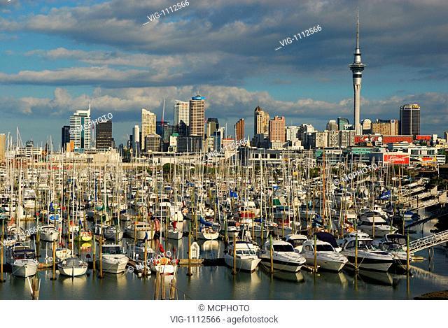 Segelboote im Hafen von Auckland - 01/01/2009