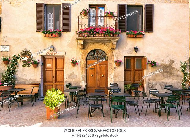 Pienza is a village most beautiful in Italy, Siena province, Tuscany Region, Italy, Europe