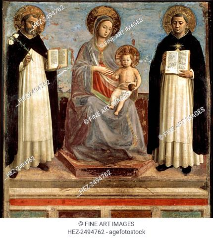 'Virgin and Child with Saints Dominicus and Thomas Aquinas', 1424-1430. Angelico, Fra Giovanni, da Fiesole (ca. 1400-1455)