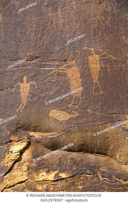 Anasazi Petroglyphs, Shay Canyon, Utah, USA