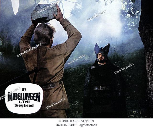 Die Nibelungen - Teil 1 - Siegfried, Deutschland / Jugoslawien 1966, Regie: Harald Reinl, Darsteller: Uwe Beyer (links), Siegfried Wischnewski