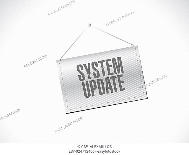 System update banner sign concept