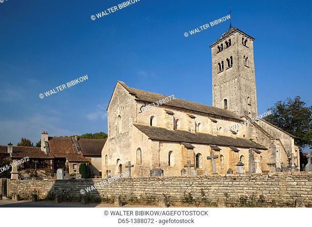 France, Saone-et-Loire Department, Burgundy Region, Maconnais Area, Chapaize, Eglise St-Martin church, 11th century