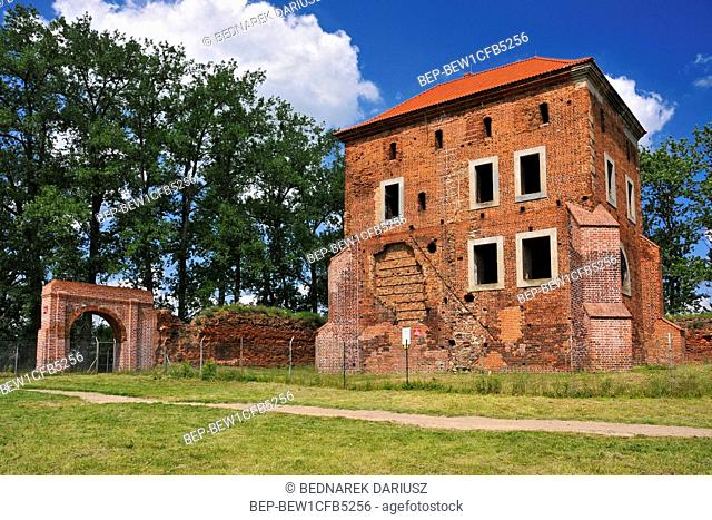 Castle in Golancz from XV century, village in Greater Poland Voivodeship