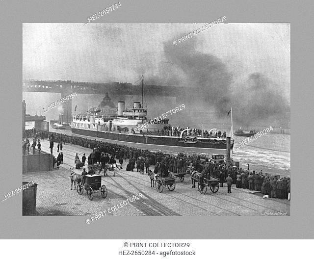 HMS Victoria at Newcastle-On-Tyne, c1887 . Artist: M Aunty