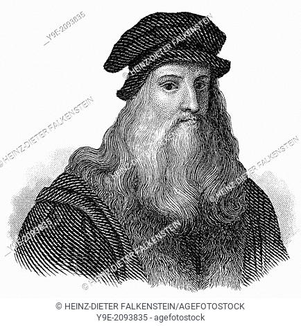 Leonardo da Vinci, 1452 - 1519, Italian painter, sculptor, architect and engineer,