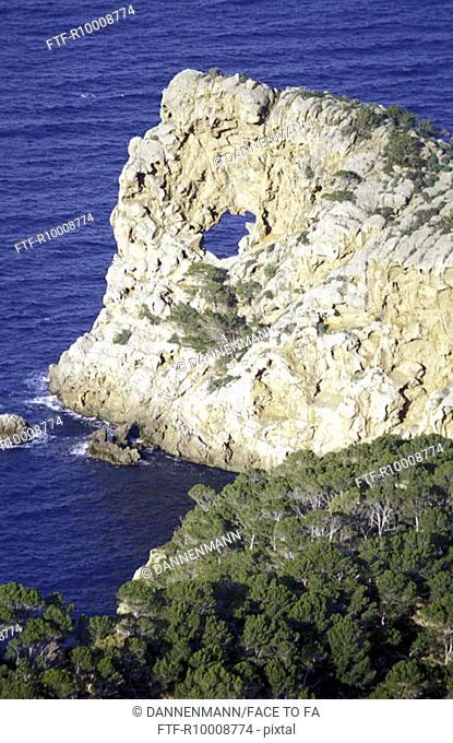 Viewpoint from the manor house Sa Foradada, Spain, Mallorca