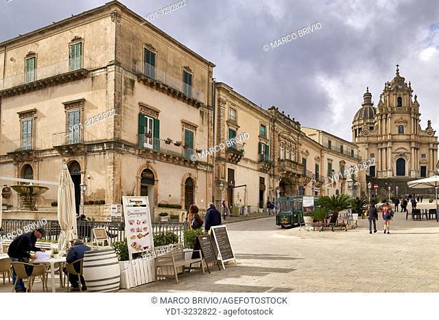 Piazza Duomo (Cathedral Square). Ragusa Ibla Sicily Italy