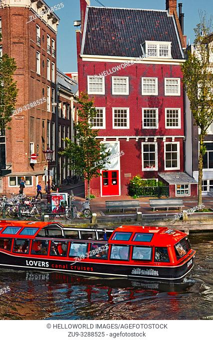 Canal sightseeing boat, Amsterdam, Netherlands