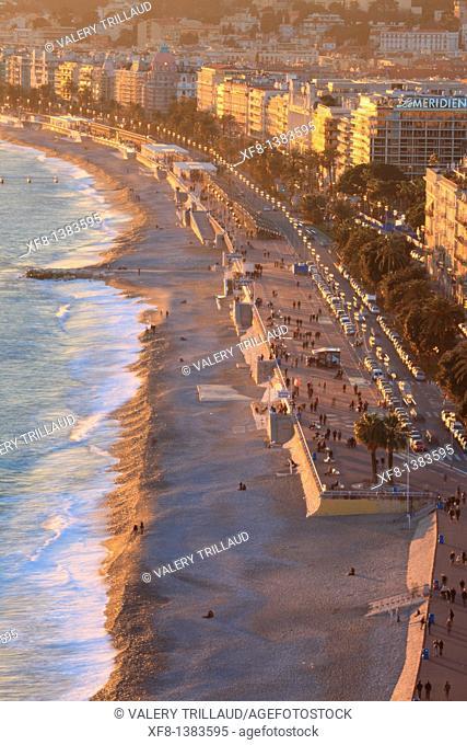 The Promenade des Anglais of Nice, Alpes-Maritimes, Provence-Alpes-Côte d'Azur, France