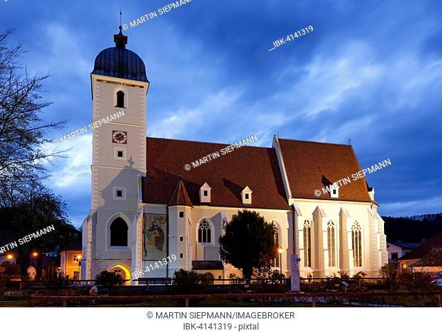 Parish church St. John the Baptist, former fortified church, Kirchschlag, Bucklige Welt, Industrial Quarter, Lower Austria, Austria